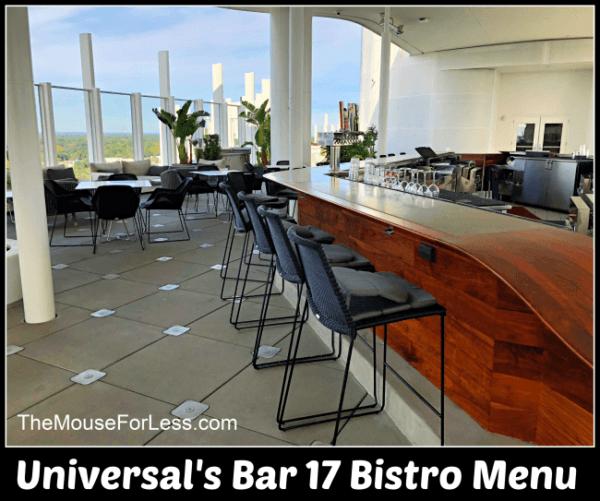 Universal's Bar 17 Bistro Menu