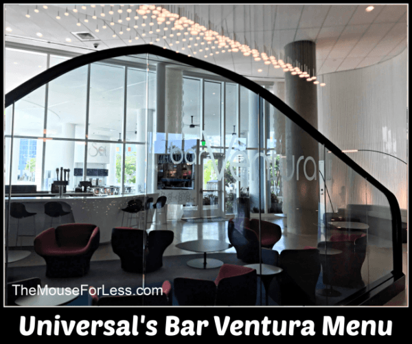 Universal's barVentura Menu