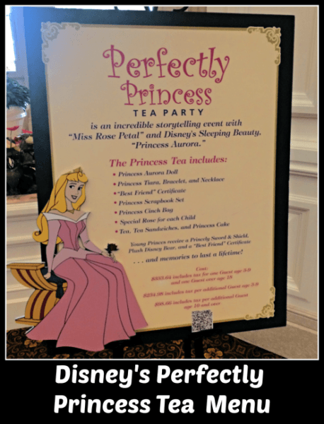 Perfectly Princess Tea Party Menu