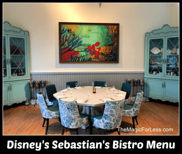 Sebastian's Bistro Menu