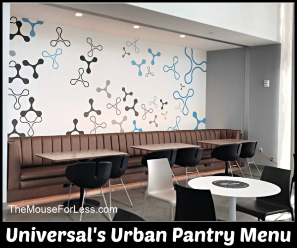Universal's Urban Pantry Menu