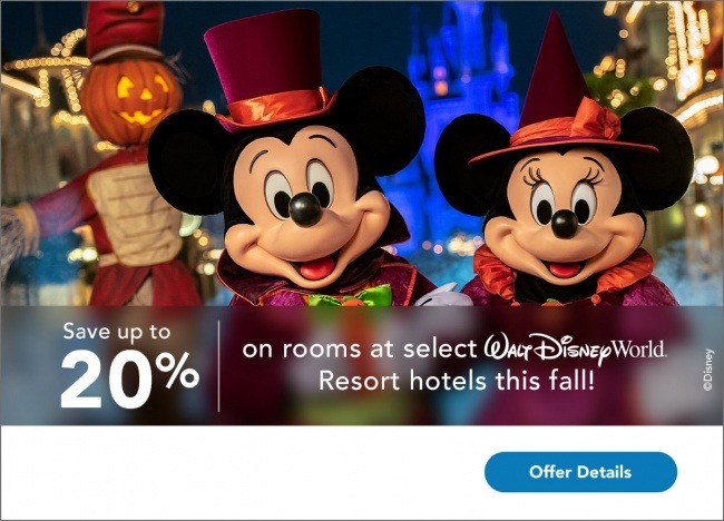 Walt Disney World Room Offer for fall and holiday season