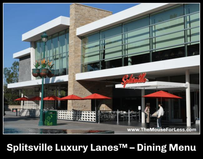 Splitsville Luxury Lanes Dining Menu