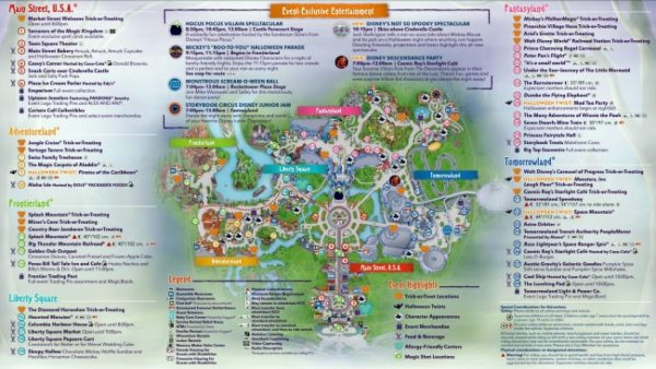 Mickey's Not-So-Scary Halloween Party Map Back