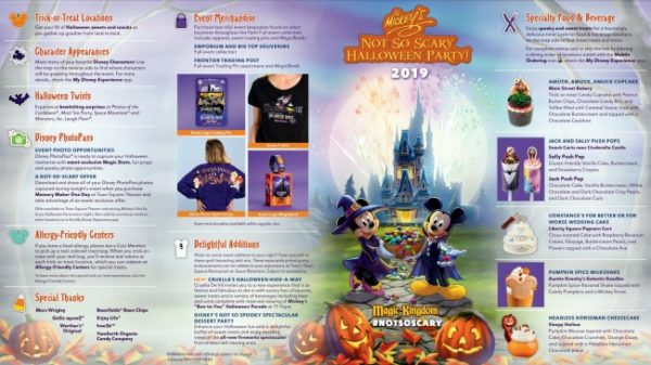 Mickey's Not-So-Scary Halloween Party Map Front