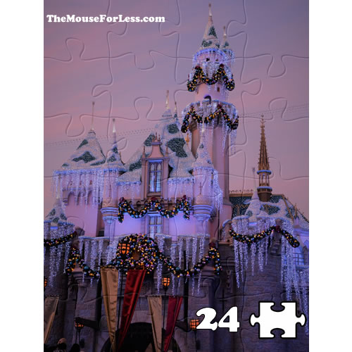 Disneyland Castle at Christmas Puzzle