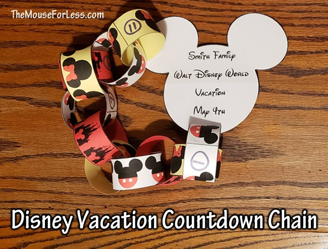 Disney Vacation Countdown Chain