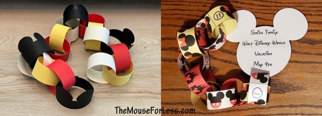 Disney Themed Countdown Chains