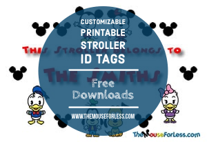 Printable Disney Stroller Identification Tag