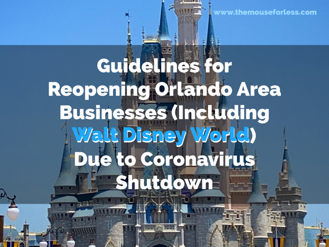 Coronavirus Guidelines for Reopening Orlando Area