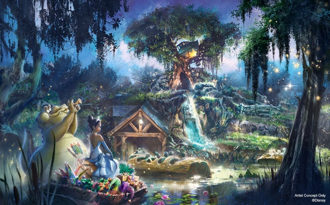 Splash Mountain / Princess and the Frog Retheme