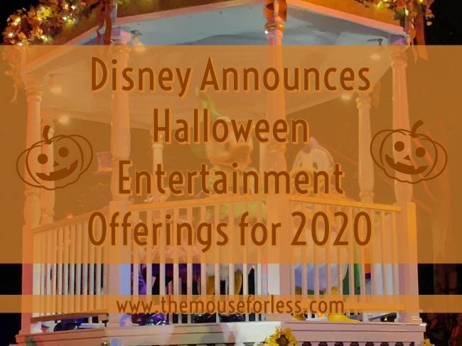 Disney Announces Halloween Entertainment Offerings for 2020