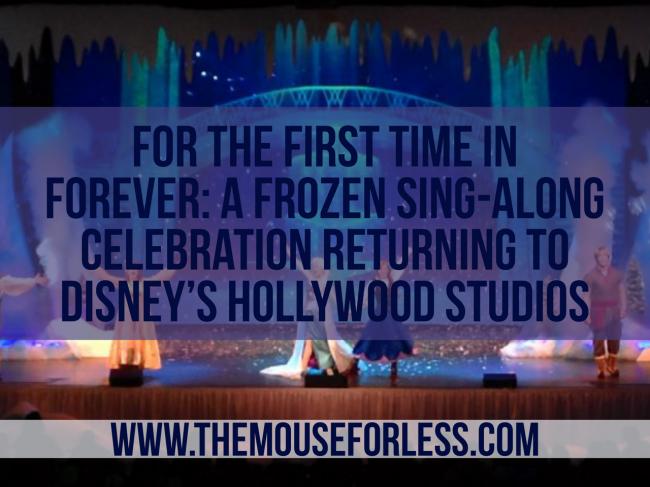 A Frozen Sing-Along Celebration Returning
