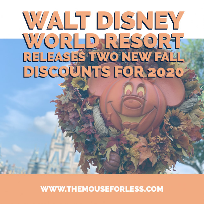 Walt Disney World Releases Two Discounts for Fall 2020