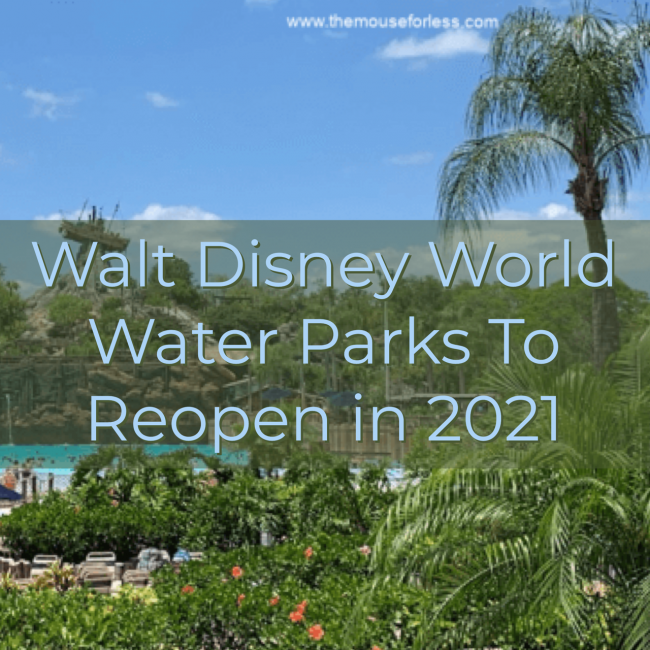 Water Parks to reopen in 2021