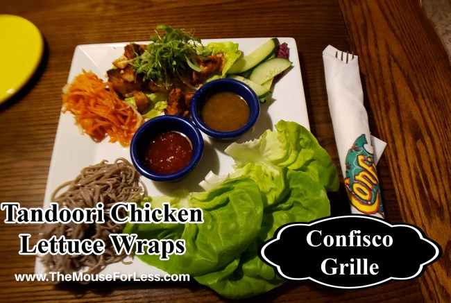 Confisco Grill Menu Tandoori Chicken Lettuce Wraps