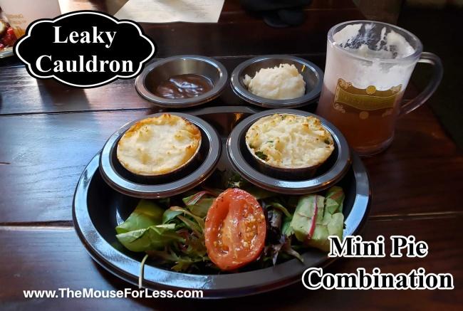 Leaky Cauldron Menu Mini Pie Combination
