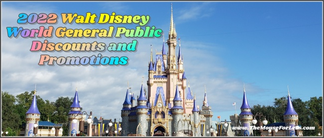 2022 Walt Disney World General Public Discounts and Promotions