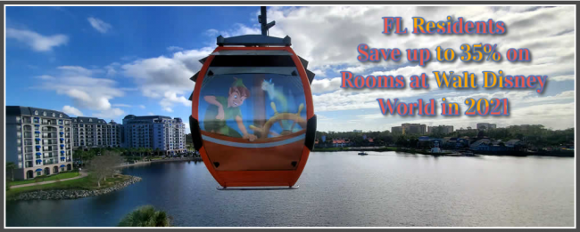 FL Resident discounts for Walt Disney World