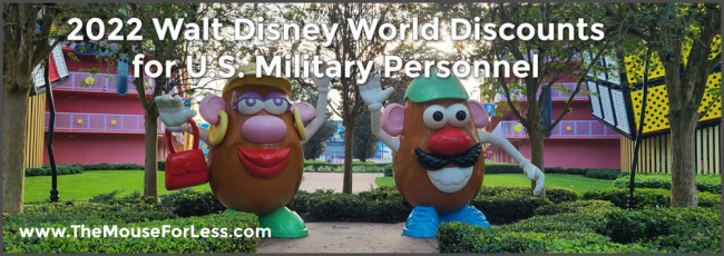 2022 Walt Disney World Discounts for U.S. Military Personnel