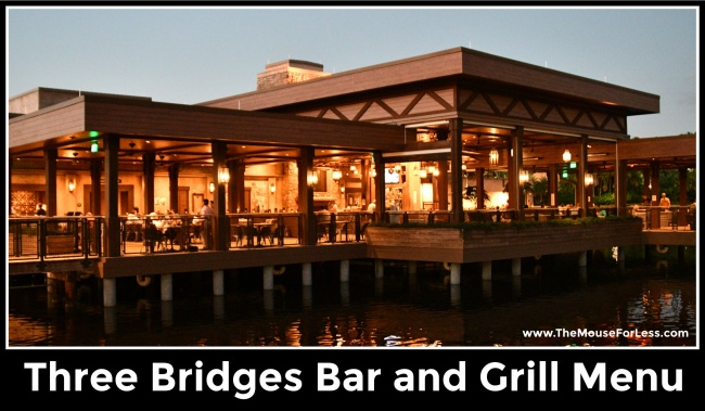 Three Bridges Bar and Grill at Villa del Lago Menu