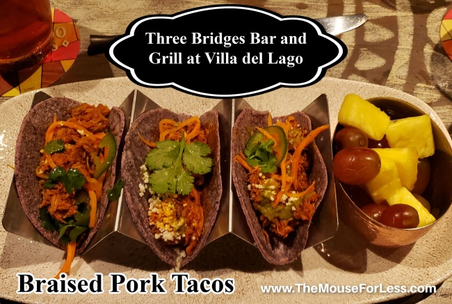 Three Bridges Bar and Grill Braised Pork Tacos