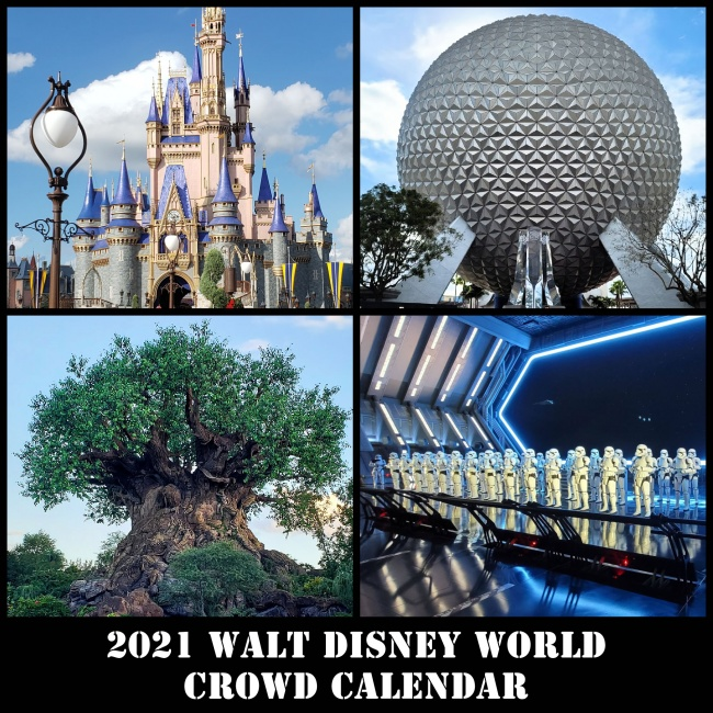 2021 Walt Disney World Crowd Calendar