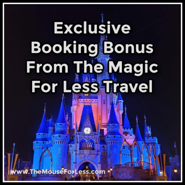 Exclusive Booking Bonus from The Magic For Less Travel