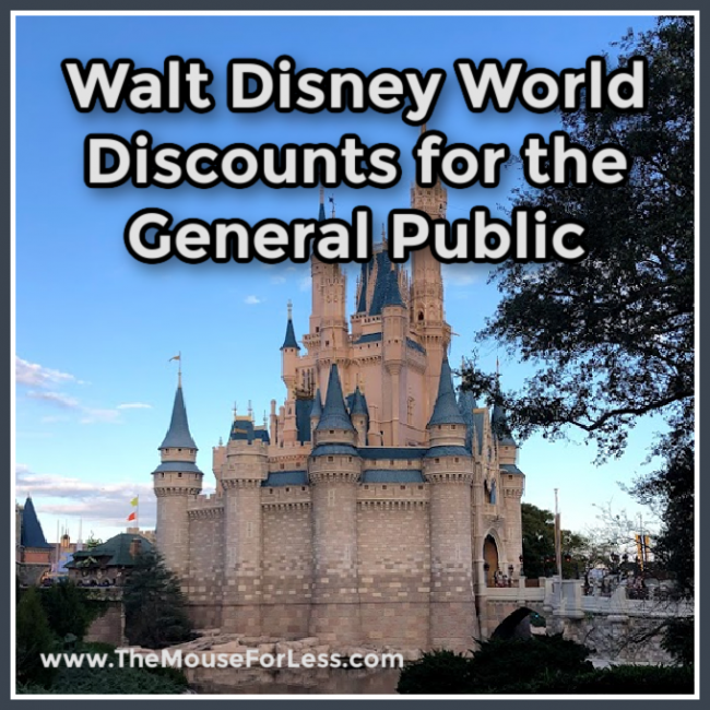 Walt Disney World Discounts for the General Public