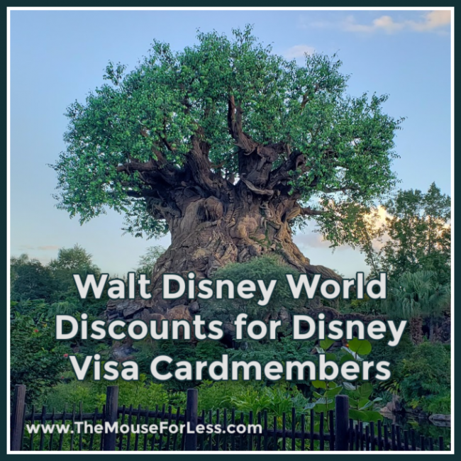 Walt Disney World Discounts for Disney Visa Cardmembers