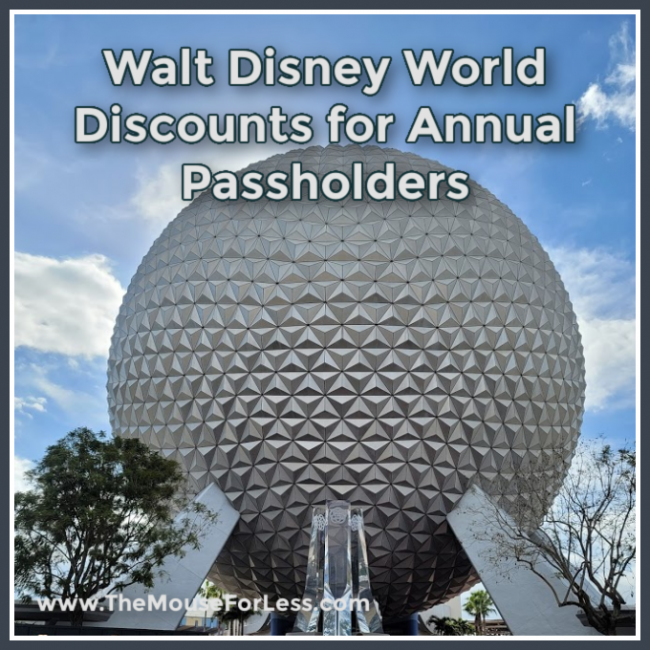 Disney World Discounts for Annual Passholders