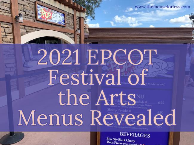 EPCOT Festival of the Arts Menus 2021