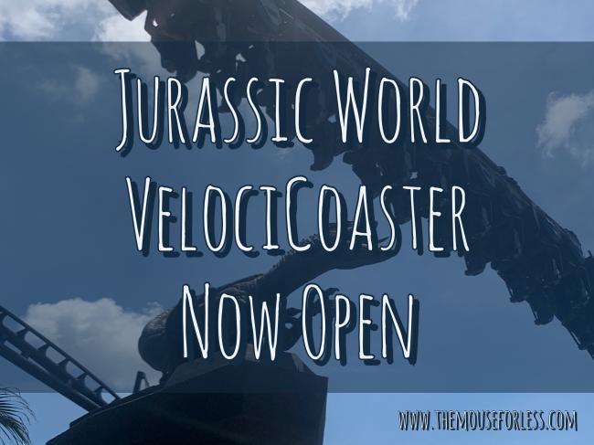 VelociCoaster Now Open