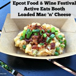 Epcot Food & Wine Festival - Active Eats Booth