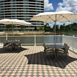 Contemporary Resort Outdoor Seating