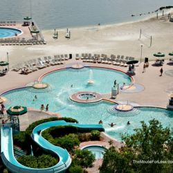 Contemporary Resort Pool Overview