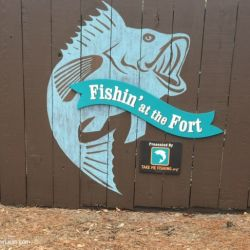 Fort Wilderness Resort and Campground Pool Fishing Sign