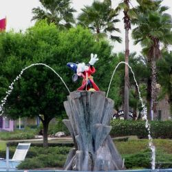 All-Star Movies Resort Fantasia Pool Fountain